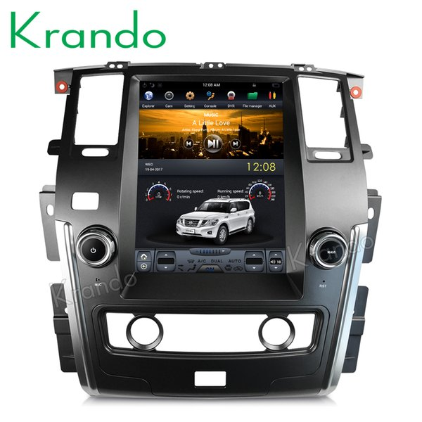 "Krando Android 6.0 12.1"" Vertical screen car dvd GPS for Nissan Patrol low version 2010-2018 navigation multimedia system"