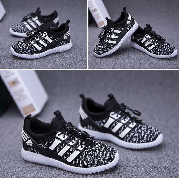 5efce7560300f Fashion Kids Boys Girls Shoes Sneakers Breathable Mesh Sports Flat Running  Children\'S Athletic Shoes Age 3 11 Years Drop Shipping Kids Sneakers ...