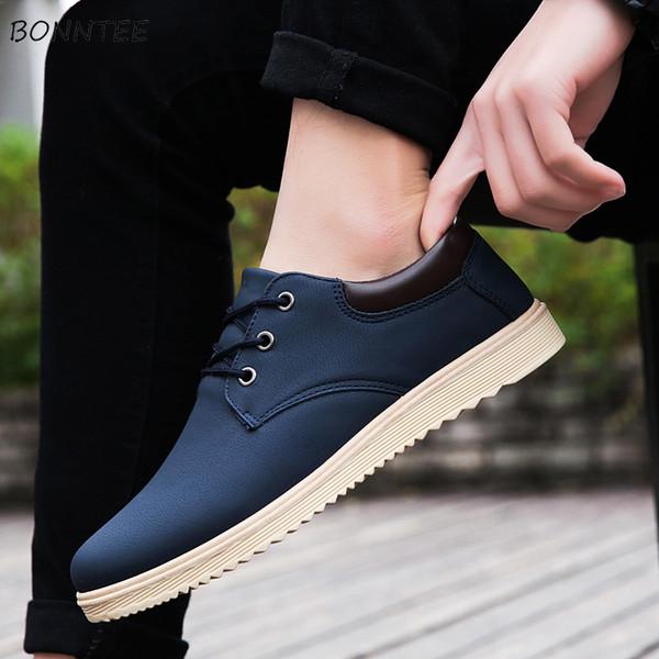 Deri Rahat Ayakkabılar Erkekler Dantel-up Trendy Kore Tarzı Tüm Maç Klasik Ayakkabı erkek Yüksek Kaliteli Nefes kaymaz Deodorant Yeni