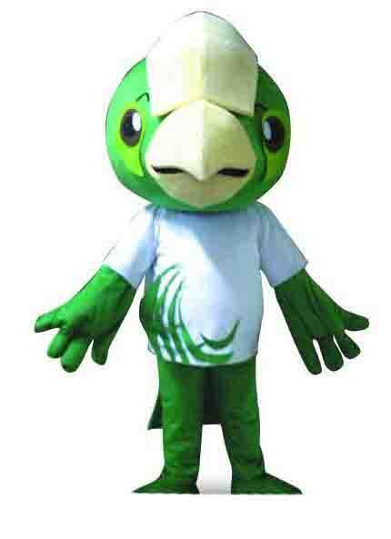 2019 factory sale big head green parrot Fancy Dress Cartoon Adult Animal Mascot Costume free shipping