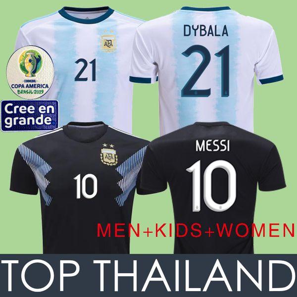 Argentina Soccer Jersey Football Shirts 2019 Cop Amerika Arjantin MESSI Futbol Formaları 19 20 Arjantin Futbol Gömlek Camiseta de Futbol DYBALA HIGUAIN ICARDI Kitleri Maillot