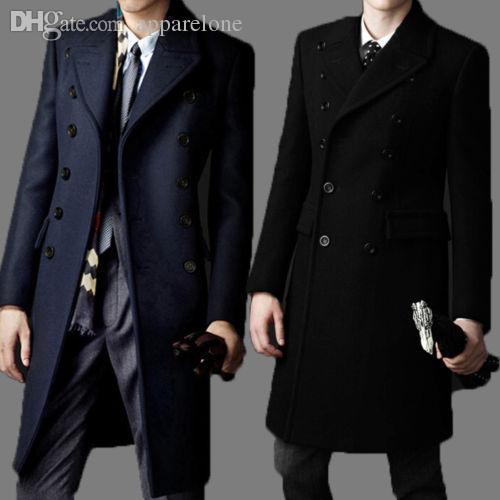 Automne-Nouvelle Marque bakham long manteau de laine trench-coat d'hiver caban 2015 Vêtements pour homme de manteau de poussière hommes pardessus manteaux pour hommes # A4423
