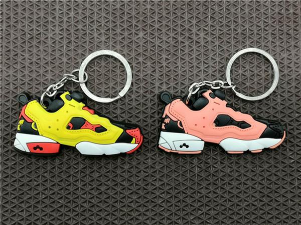 Sevimli Mini Silikon Insta Pompa Fury Citron Ayakkabı Anahtarlık Anahtarlık Simülasyon Moda Sneaker Kolye Oyuncaklar Çocuklar Erkekl ...