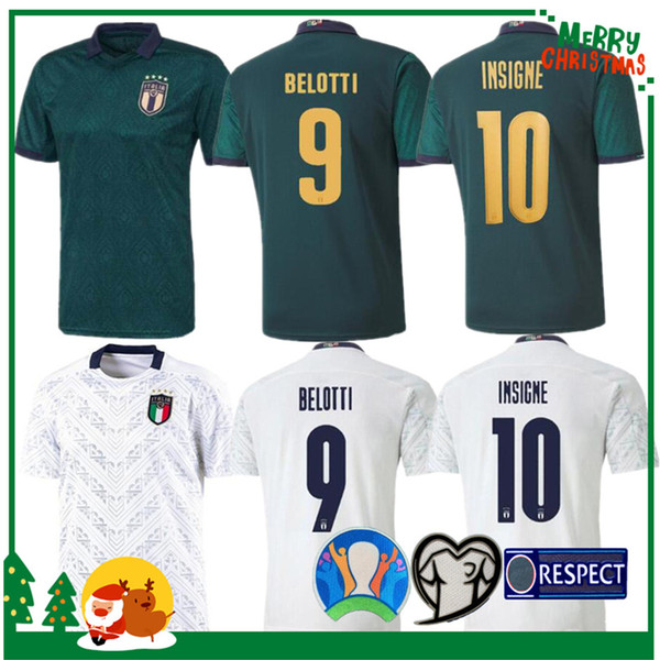 hombre adulto y niños kit 2019 2020 Italia de fútbol Jersey 19 20 hogar lejos camisa Jorginho El Shaarawy BONUCCI INSIGNE Bernardeschi FÚTBOL PIERO