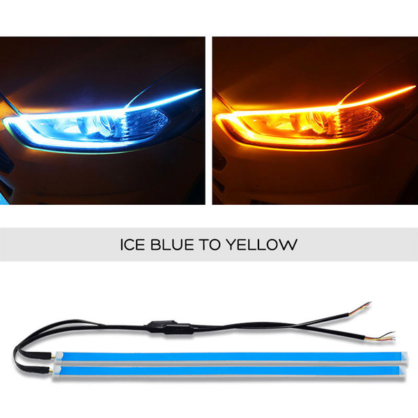 SUNYDEAL ultra-mince voiture LED Feux de jour Lumière douce Tube LED Strip Light Guide de l'eau Guide de l'Auto bandes de déchirure Strip