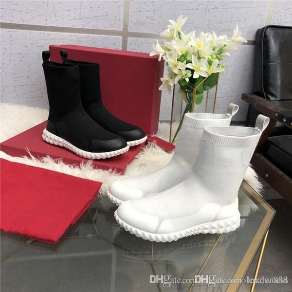 2019 Ultime scarpe da ginnastica da donna Sneaker Speed Trainer, Stivaletti alla caviglia con morbida suola superiore Bianco Nero Rosa per Ladys con scatola Taglia 36-40