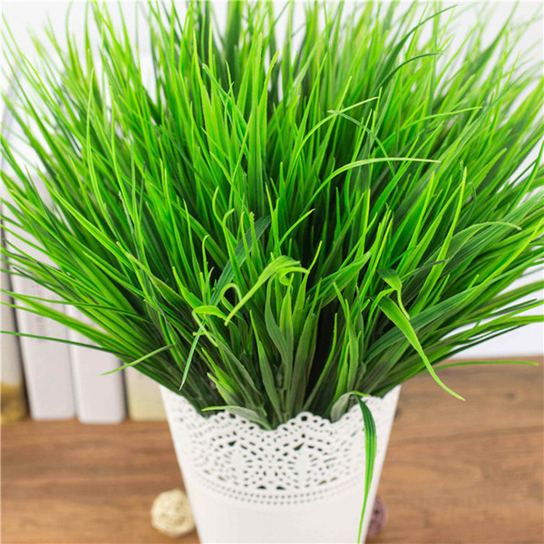 1 Set Green Grass Artificial Plants Plastic Flowers Household Wedding Spring Summer Living Room Decor