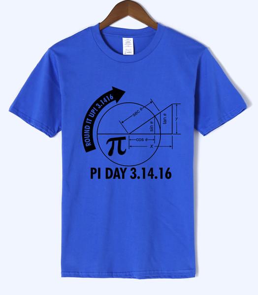 Pi-Tag 3.1416 runden es oben Math Graph 2019 Sommer neue Art Mens T-Shirts 100% Baumwolle hochwertige Kurzarm Harajuku T-Shirts