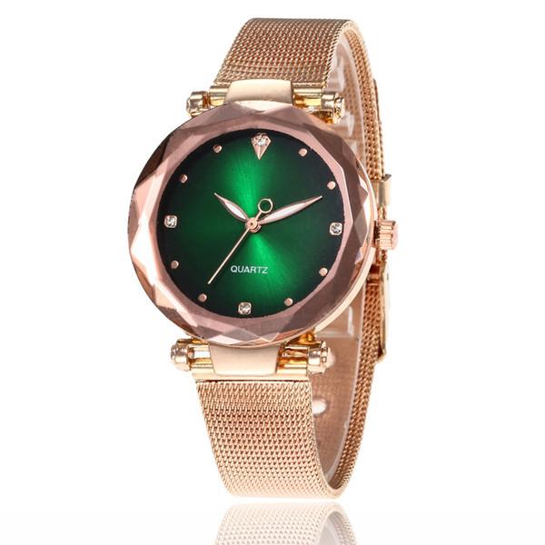 2020 diamanti orologi moda nuova delle donne della maglia dell'acciaio inossidabile della fascia orologi orologi del quarzo di vigilanza casuale donna orologio da polso ore orologio