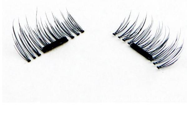 4pcs /set 1.6*1.5cm Magnetic Lashes Singel Magnet Fake Eye Lashes Hand Made Strip 2019 False Eyelashes El001