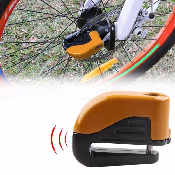 Bicycle Bike Mini Electron Alarm Disc Brakes Lock Mountain Bike Road Racing Anti Theft Security Accessories with keys drop #170817
