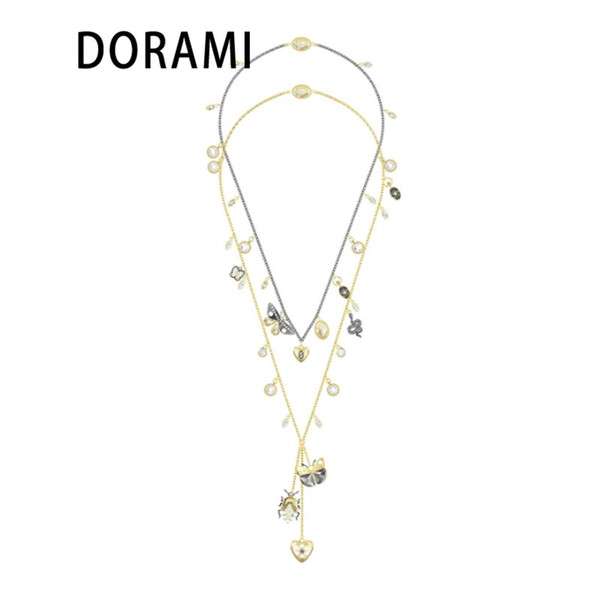 DORAMI 2018 Latest new product Cute Piggy SWA fashion Penguin pendant necklace for beautiful girl Very lovely style for gift