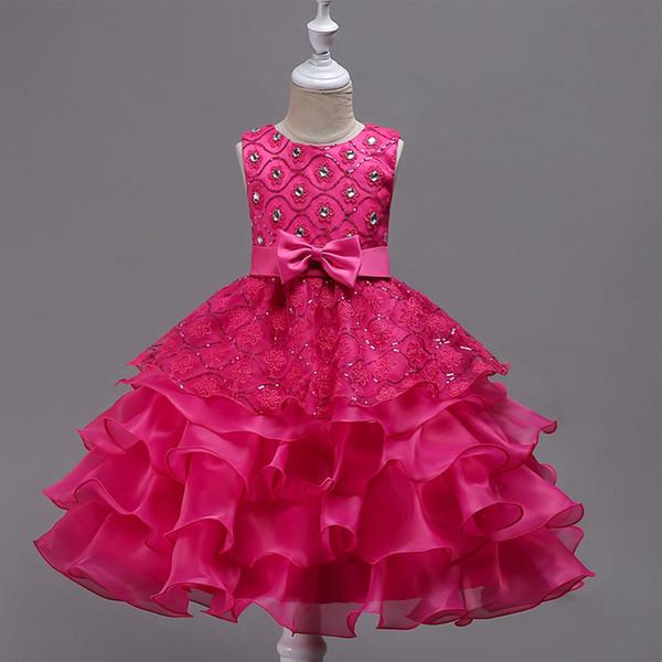 Compre Vestido De Niña Sin Mangas Vestidos Para Niñas Ropa De Fiesta Princesa Vestidos Nina 3 5 6 7 14 Año Vestido De Cumpleaños Bautismo De Navidad A