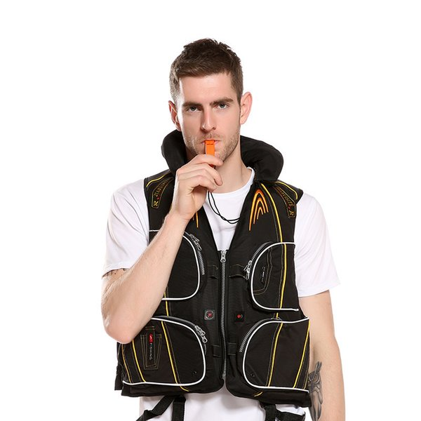 Polyester Adult Swimming Boating Ski Drifting Life Vest with Whistle Man women very safety styles 2019
