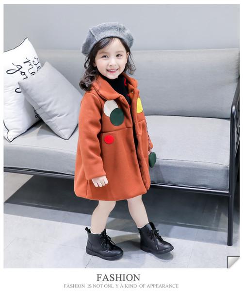 wholesale 2019 New Winter Item Girl Long Coat Cute Design denim kids sport baby boy blazer toddler infant boys Anna SPIDERMAN jackets