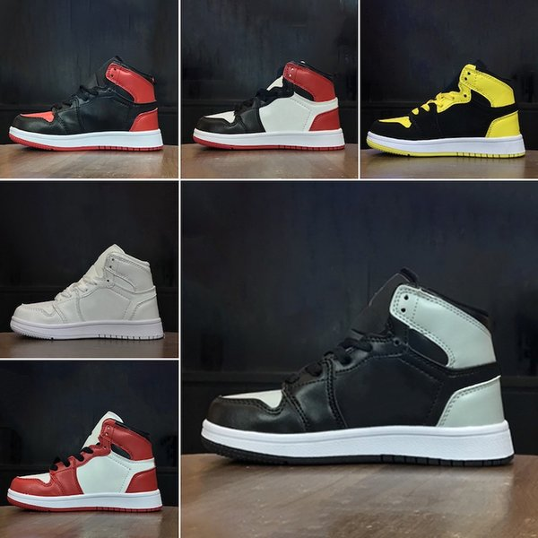 kids Original brand fashion designer shoes sneakers j1 1s jd 1 high basketball shoes white black red blue grey cheap sale