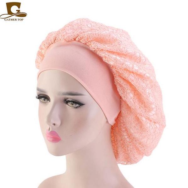 2019 Women Maternity Hat Chemotherapy Beanies Imitate Silk Mesh Bonnet Cap Night Sleep Hat Muslim Style Caps Hats Hair Loss Cap