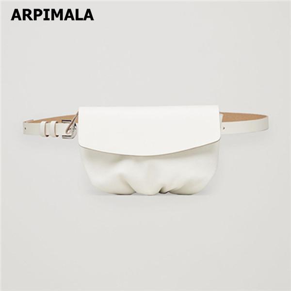 Сумки Камеры пакеты ARPIMALA белого мешка талия Женщина известная марка Fanny Pack кожа телефон Чехол Travel Belt Bag Повседневной талия пакет