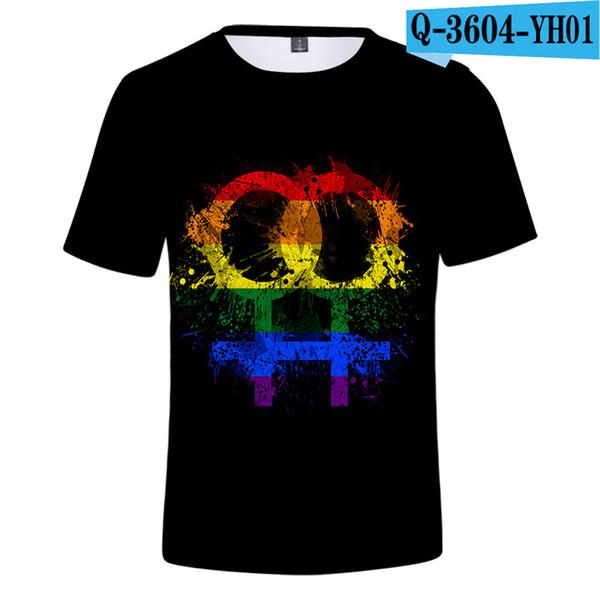 Stolz Monat T-Shirt Homosexuell Lgbt Transgender Kurzarm Shirts Sommer Jungen T-Shirts Kausal Spiel Kleidung Männer Kleidung 2019 Oansatz