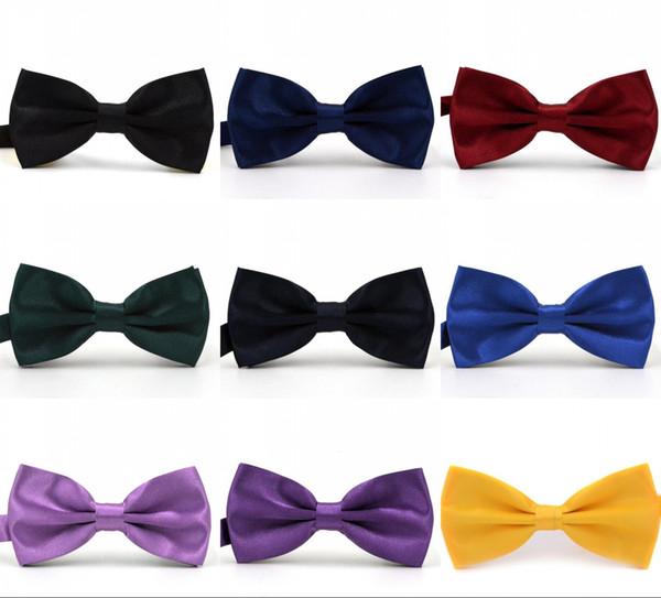 Couleurs unies Trompette Noeud papillon Pour Mariages Mode Homme Et Femmes Cravates Loisirs Cravates Bowties Noeud Adulte De Mariage
