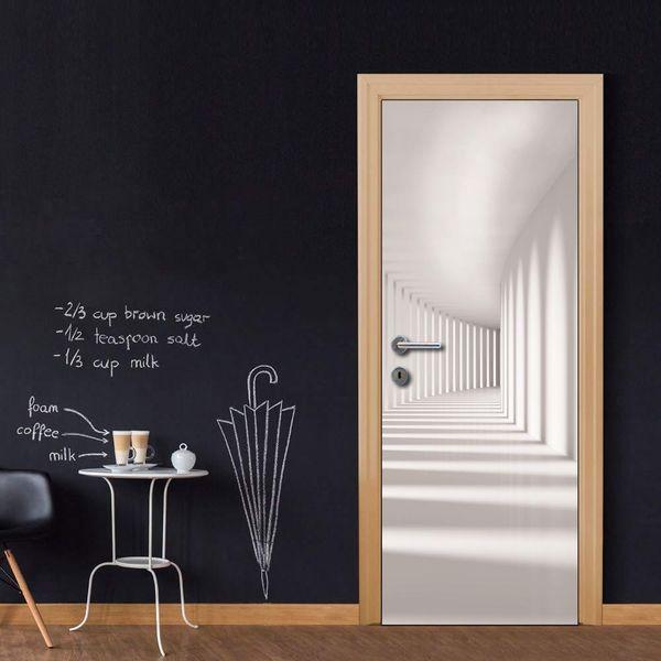 3D DIY Door Mural Door Cover Roman Column for Bedroom Living Room wallpapers Decal Sticker home accessories