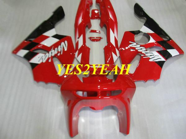 Fairing body kit for KAWASAKI Ninja ZX6R 636 94 95 96 97 ZX 6R 1994 1997 ABS Red Fairings bodywork+Gifts KS07