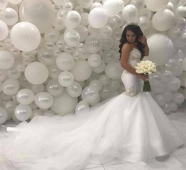 Arabic Middle East Mermaid Wedding Dresses 2019 Sweetheart yousef aljasmi Custom Made court train gorgeous sexy Fishtail Bridal gowns