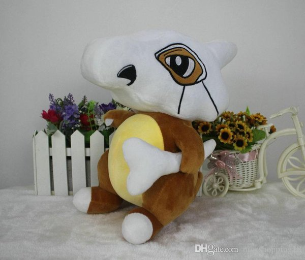 low price 22cm Cubone Stuffed Animals Doll Kawaii Pocket Plush Toys Pendant Cartoon Soft Anime Dolls Kids GIFT T418