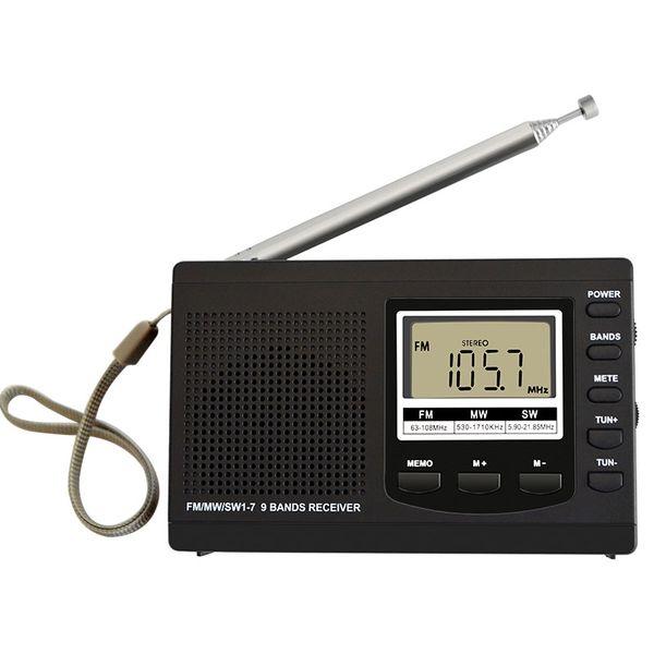 Portable Mini radio am fm FM/MW/SW with Digital Alarm Clock mini FM Radio Receiver digital portable receiver clock
