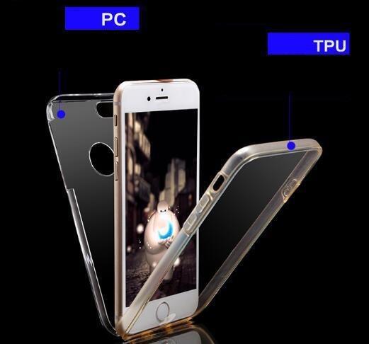 360 Funda de TPU para PC con cobertura total para Iphone XR X XS Máx. 8 7 6 6S Plus 5 5S Samsung Galaxy S10 S10 S9 S8 S7 S6 Edge NOTA8 NOTA9 Cubierta de cubierta