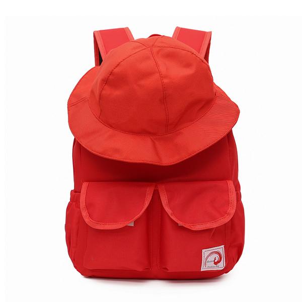 Mochila das mulheres Com um Chapéu Ao Ar Livre de Volta pacote para Meninas Mochila Designer Com 4 cores Saco Ocasional Feito de Nylon Transporte da gota