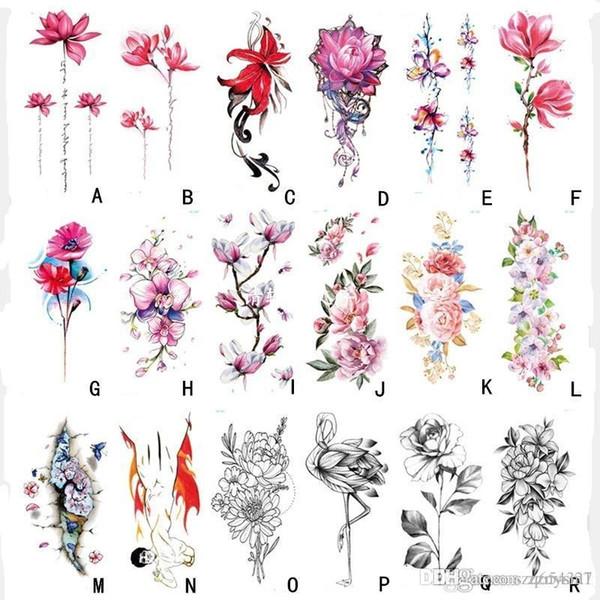 Impermeabile Tatuaggio adesivo monouso Tatuaggio adesivo temporaneo Flowerbow Adesivo estivo da bagno