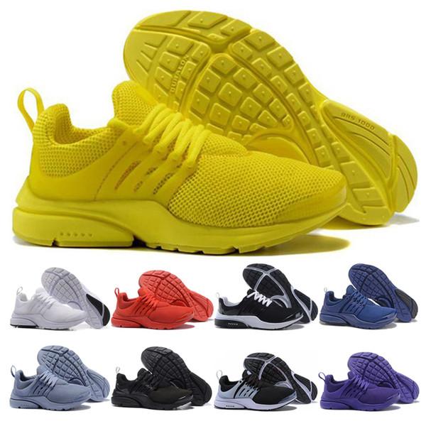 Compre Nike Air Presto Shoes PRESTO 5 BR QS Hombres Mujeres Zapatos Para Correr Triple Negro Blanco Amarillo Rojo Hombres Zapatillas Deporte Mujer