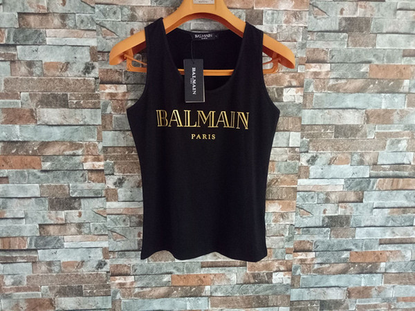 top popular Balmain Womens Designer T Shirt Fashion Womens Clothing Top Short Sleeve Women Designer Shirts Tees Size S-L 2020