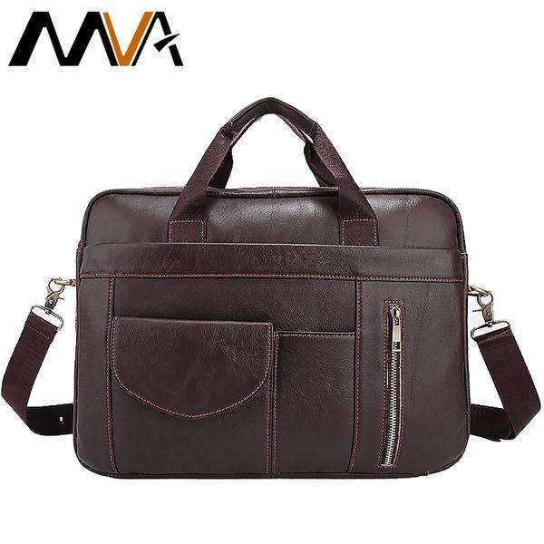 2019 Famous Fashion Simple Brand Men Business Briefcase Bag Male Genuine Leather Laptop Bag Casual Men Travel Bags Shoulder 1116
