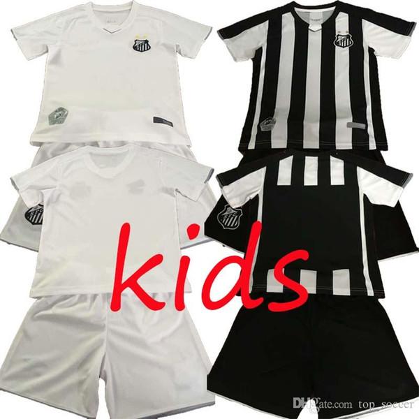 2019 2020 Santos kids FC 19 20 hogar de Santos Santos blanco negro SOTELDO RODRYGO PATO SANCHEZ RENATO Camisetas de fútbol Саша Талла