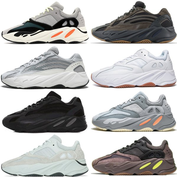Adidas Yeezy 700 Runner 2019 New Kanye West Mauve Vague Hommes Femmes Athlétique Meilleure Qualité 700 s Sport Running Sneakers Designer Chaussures