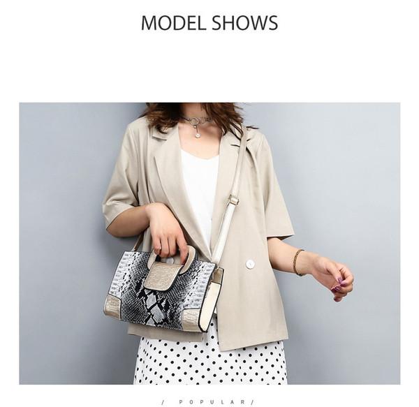 Moda bolso de señora estilo europeo y americano patrón de serpiente señoras bolso de alta calidad de color mezclado mini hombro paquete diagonal al por mayor