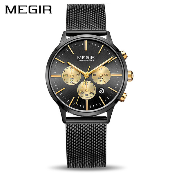 Megir Chronograph Luxury Women Bracelet Watches Relogio Feminino Fashion Quartz Lovers Wrist Watch Clock Ladies Girls Gift 2011 MX190720