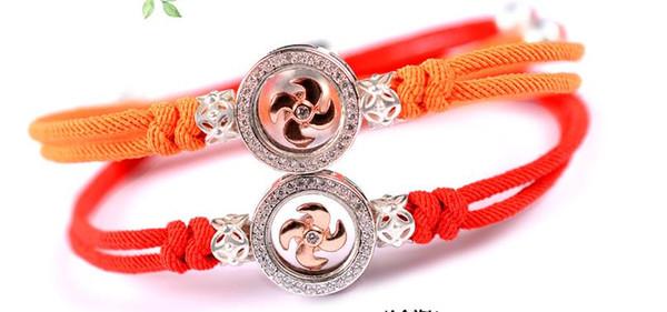 925 Silver Wind Turbine Drill Rotary Bracelet Handwoven Italian Handrope Rotary Handwear