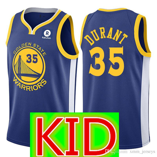 finest selection 0d735 b3d82 2018 KID 30 Stephen Curry Golden State Warriors Jersey Youth KID 35 Kevin  Durant 11 Klay Thompson 23 Draymond Green Jerseys From Heysports, &Price; |  ...