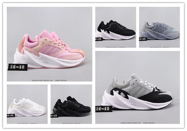 2019 Yeni Kanye West Leylak Dalga Erkek Kadınlar gündelik Yüksek Kalite 700s Spor Koşu Spor ayakkabılar Tasarımcıyeezyyeezys350 Ayakkabılar