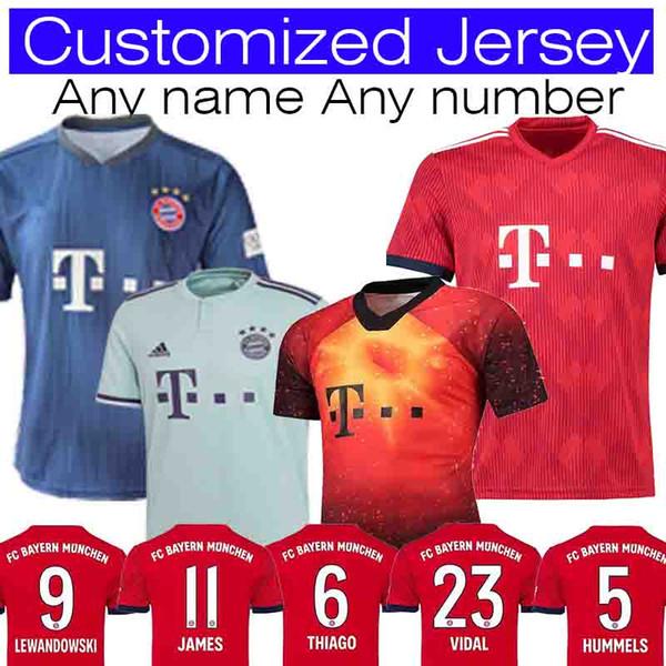 low cost 61249 81143 2019 Bayern Munich Soccer Jersey JAMES RODRIGUEZ LEWANDOWSKI MULLER KIMMICH  Jersey 27 ALABA 23 VIDAL 1 NEUER Foot Champions League From Sports_zhou, ...