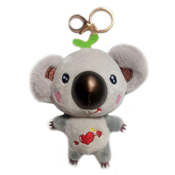 "Stuffed Koala Keychain Ornaments Toys Plush Pendant Gifts for Mom Kids Girlfriend Gray 5.5"""