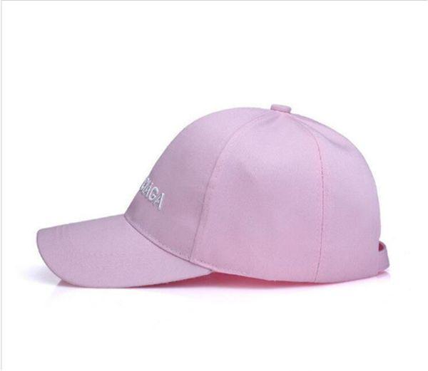 Guanlide Bestickte Baseballkappe Low Profile Curved Bill weiß schwarz Pink Thread für Männer Frauen Sonnenhut