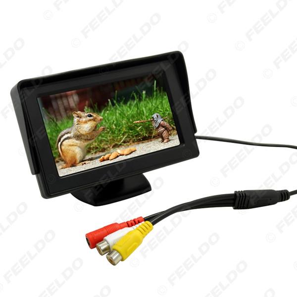 Car 4.3 inch Digital Stand-alone TFT LCD Monitor For Reversing Backup Camera DVD/VCR DC12V-24V#2799