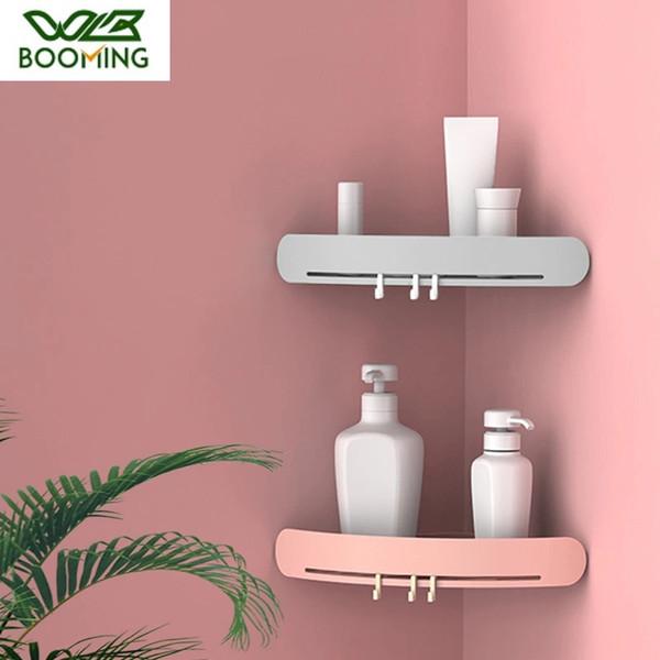 Bathroom Organizer Triangular Shower Shelf Corner Bath Storage Holder Wall
