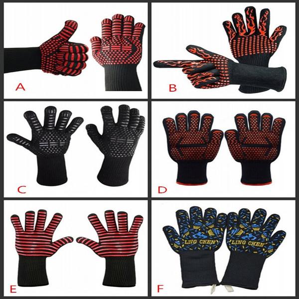 Барбекю перчатки экстремальные Термостойкие перчатки кулинария выпечка гриль рукавицы кухня защита выпечки инструменты