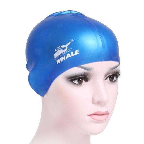 Baleia marca mulheres homens adulto chapéu de surf de silicone proteger as orelhas de cabelo comprido esportes piscina de natação touca de banho touca de natação