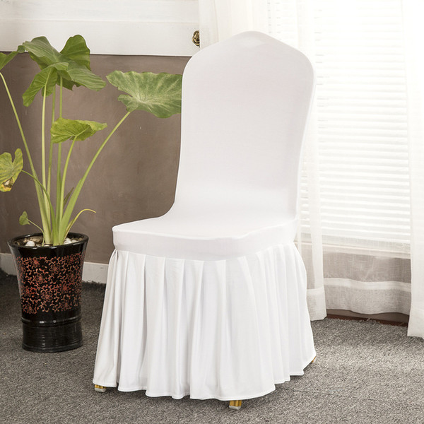 Modern Solid Wedding Banquet Chair Coprire Spandex Stretch Elastic Chair Covers Hotel Office Kitchen Dining Seat Covers